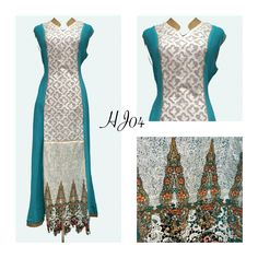 Long kurta with imported fabrics in Aqua Blue color