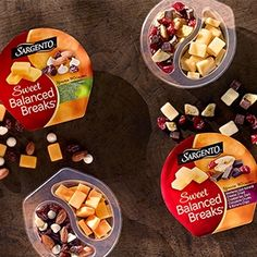 Embrace your sweet side with Sargento® Sweet Balanced Breaks®! Each one of our Sweet Balanced Breaks® are filled with savory, natural cheese on one side and a sweet treat like chocolate or glazed walnuts & fruit on the other. Mac And Cheese, Cheddar Cheese, Food Inc, Wrap Sandwiches, Serving Size, Mozzarella, Easy Meals, Appetizers, Stuffed Peppers