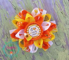 Halloween Candy Corn Loopy flower Boutique by ElliesHappinessBows