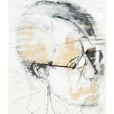 Carl Köhler painted this oil collage of Mahler between 1990 and 1995