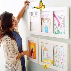 <br> Playroom Organization, Playroom Decor, Diy Room Decor, Playroom Ideas, Bedroom Decor, Organization Hacks, Displaying Kids Artwork, Artwork Display, Design Room