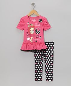 Take a look at this Pink Strawberry Tunic & Leggings - Infant, Toddler & Girls by Strawberry Shortcake on #zulily today!