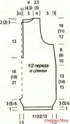 Боди (комбинезон, песочник) спицами для малышей от 0 до года - Вязание - Страна…