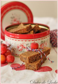 Dulce de Leche: Jablkovo škoricové müsli tyčinky