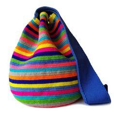 SHOP Handmade Mochila Wayuu Bags | LOMBIA + CO. | Crochet Shoes, Knit Crochet, Tapestry Crochet, Knitted Bags, Hippie Chic, Handmade Shop, Little Gifts, Bucket Bag, Crochet Patterns