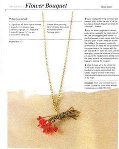 flower bouquet necklace tutorial