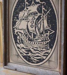 Tan Danzig Ship Art Print