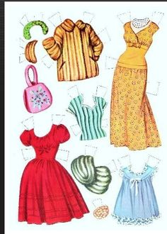 1960 Tuesday Weld paper doll clothes / missmissypaperdolls