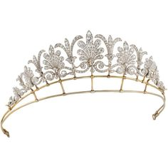 Edwardian Tiara/Necklace Combination - James Martin ❤ liked on Polyvore featuring accessories, hair accessories, jewelry, tiaras, crowns, tiara crown and crown tiara