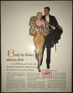 "1929 General Motors ad - ""Body by Fisher always first"" - vintage color magazine ad"