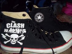 """"""" The Clash """" Chuck Taylor Convers Shoes 