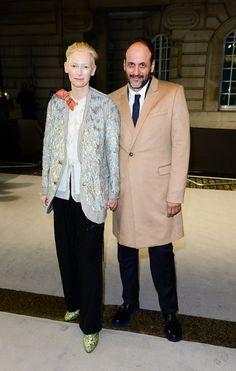 "Tilda Swinton and Director Luca Guadagnino at the ""A Bigger Splash"" Premiere in London"