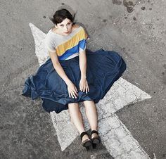 I like everything that is happening here INCLUDING the photgraphy. Polka dot skirt by jenfashion on etsy.
