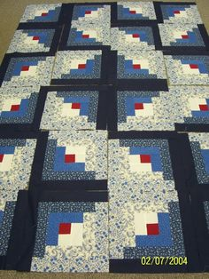 Log Cabin Quilt Design - LOVE it!!