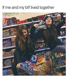 My bff and I would die of diabetes. But hey, at least we'd die together :,) Really Funny Memes, Stupid Funny Memes, Funny Relatable Memes, Haha Funny, Funny Quotes, Best Friend Quotes Funny Hilarious, Best Friends Funny, Youre My Person, Best Friend Pictures