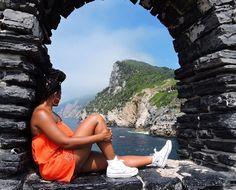 Look back at it. @kry_style takes it all in above #CinqueTerre Italy. Travel Well #TravelFly! :::::::::::::::::::::::::::::: #PassportLife #BlackGirlsTravel #PassportReady #Travel #BrownGirlsTravel #DoYouTravel #Wanderlust #Fernweh #TravelTheWorld #TravelOn #BlackTravelers #TravelAddict #TravelJunkie #TasteInTravel #LadiesGoneGlobal #LuxeTravel #WellTraveled #InspireToTravel #TravelLife #TravelGram #TravelBetter #IGTravel #WeTravel #Explore #PassionPassport #JetSetting