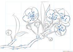 Imagini pentru cherry blossom drawing