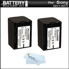 2 Pack Battery Kit For Sony DEV-3, Sony DEV-5 Digital Recording Binoculars Includes 2 Extended Replacement (2300Mah) NP-FV70 Batteries+ MicroFiber Cleaning Cloth (Electronics)  http://www.rereq.com/prod.php?p=B005WKY5M2  B005WKY5M2