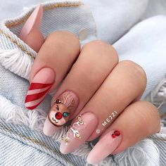 Nails Art Design New Free Idea Current Trends According To Seasons İn Manicure 2019 – Page 5 of 35 – eeasyknitting. com - Top-Trends Cute Christmas Nails, Xmas Nails, Christmas Nail Art Designs, Winter Nail Designs, Holiday Nails, Valentine Nails, Halloween Nails, Christmas 2019, Diy Nails