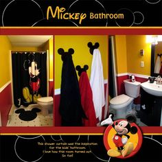 Mickey Mouse Clubhouse Bathroom Accessory Cessory set