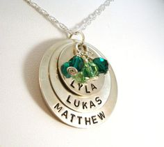 I love the weight of the sterling silver in this hand stamped necklace. #jewelry #mommyjewelry
