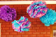 6 Tissue Poms Abby Cadabby Party by SweetTeaPaper on Etsy, $24.00