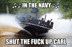 Fast Boats with Big Guns - Come Along to SwCC school where the Us navy Trains trains its elite boat crews Military Jokes, Army Humor, Military Life, Military Gear, Military Vehicles, United States Navy, Navy Seals, Carl Meme, Cia Agent