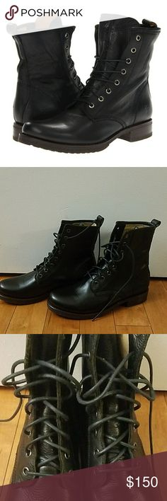Frye Veronica Black Combat Boots Frye Veronica Black Combat Boots.   Size 9.  Brand new, never worn. Frye Shoes Combat & Moto Boots