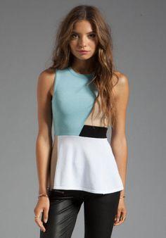 NWT $248 TORN BY RONNY KOBO Blue Sam Top In Tan, Size M #TornbyRonnyKobo #KnitTop