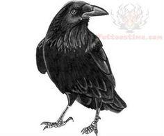 Black Bird Crow Tattoo Design