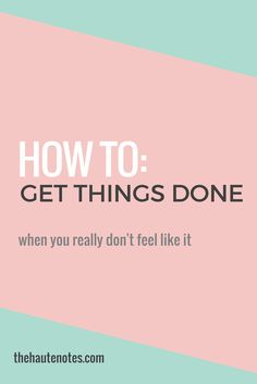 Struggling to get motivated? Here are a few tips to help you get things done on those days when you just aren't feeling it! How To Get Motivated, Building A Business, Successful Online Businesses, Productivity Hacks, Work From Home Tips, Feel Like, Time Management, Business Marketing, You Really