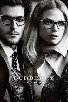 Burberry Eyewear Fall 2012 Photographer: Mario Testino Models: Gabriella Wilde, Roo Panes