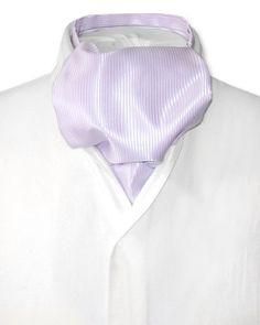 61d1c5c61005a Men's solid striped lilac ascot cravat necktie. #elegance4him  #eleganceforhim #ascotcravat #mensfashion #formalaccessories #lilac #stripes