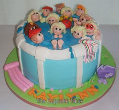 """The swimming """"cake"""" party :)"""