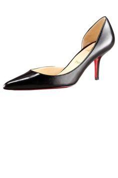 christian louboutin black kitten heel pump