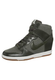 Nike Sportswear DUNK SKY - Sneakers hoog - khaki  medium brown - Zalando.be 51cc546778d