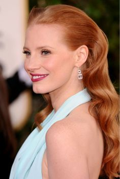 Jessica Chastain | Curly Hairstyles | Fashion Pictures | Marie Claire