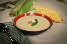 This soup looked so amazing and got huge rave reviews on the show. Daphne Oz's Grilled Corn Soup With Basil And Feta