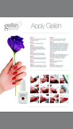 How to apply Gelish nail polish