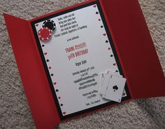 Casino/Vegas Theme Custom Gatefold Birthday Invite by Weddings*n*Whimsy, via Flickr