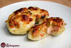 Patatas rellenas de verduras y bacon al horno - recetasderechupete.com Por: platofacil.com