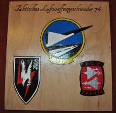 """Wappen """"Taktisches Luftwaffengeschwader 74""""  Letztes Exemplar - Ein Teil des Verkaufserlös geht zu Gunsten des Bund Deutscher Veteranen e. V."""