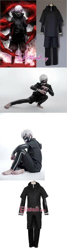 Unisex 86207: Usa Seller Tokyo Ghoul Kaneki Ken Black Hoodie Sweater Leather Cosplay Costume -> BUY IT NOW ONLY: $42.99 on eBay!