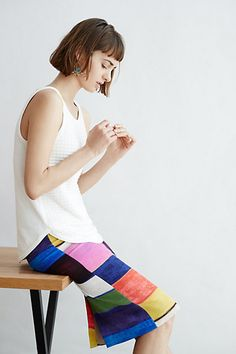 Colorfield Pencil Skirt #anthropologie