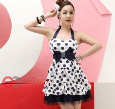 black and white polkadot sackdress with ribbon and ball gown