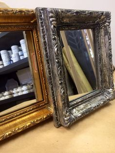 Frame makeover by Total Bliss using Artisan Enhancements Leaf & Foil Size. Silver foil was applied over top Graphite Chalk Paint. Sealed with Clear Finish for optimum shine.