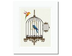 Birdcage    PDF Cross Stitch Pattern  INSTANT by LucyXStitches, $6.50