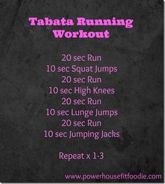 Tabata Running Workout See The 3 Week Diet Sprint Workout, Tabata Workouts, Track Workout, At Home Workouts, Fitness Tips, Fitness Motivation, Health Fitness, Body Fitness, Outdoor Workouts
