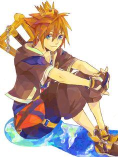 Sora is so cute here! Sora Kingdom Hearts, Pixar Characters, Heart Pictures, Vanitas, Mickey And Friends, Final Fantasy, Fan Art, Video Games, Kindom Hearts