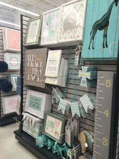 Hobby lobby nursery decor. Elephants and giraffes